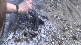 Cooking Acorn Squash Using Primitive Mud Oven