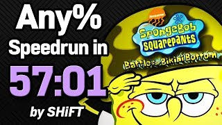 SpongeBob SquarePants: Battle for Bikini Bottom Any% Speedrun in 57:01 (WR on 3/12/2018)