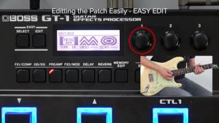 GT-1 Quick Start chapter9 : Editing the Patch Easily