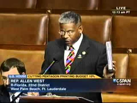Rep. West Debates Cutting Pentagon Budget by 10 %