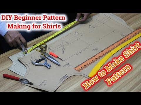 shirt pattern making tutorial [DIY] [DETAILED] easy make shirt patterns -Techniques for pattern make