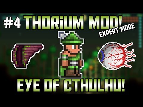 Eye of Cthulhu Bard Fight! Thorium Mod Expert Mode Bard Let's Play ||Episode 4||