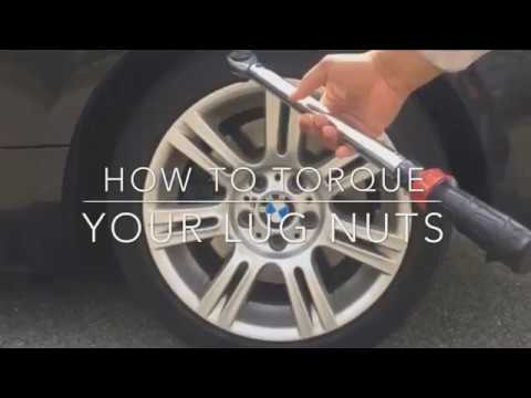 HOW TO TORQUE LUG NUTS BMW SAFETY