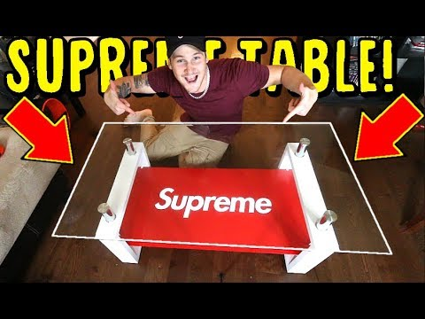 MAKING THE SUPREME COFFEE TABLE!! ONLY COSTS $100. CRAZY HYPEBEAST SUPREME ROOM PICKUP!
