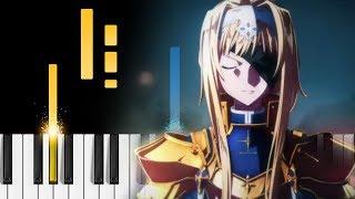 """unlasting"" - Sword Art Online: Alicization – War of Underworld ED - Piano Tutorial / Piano Cover"