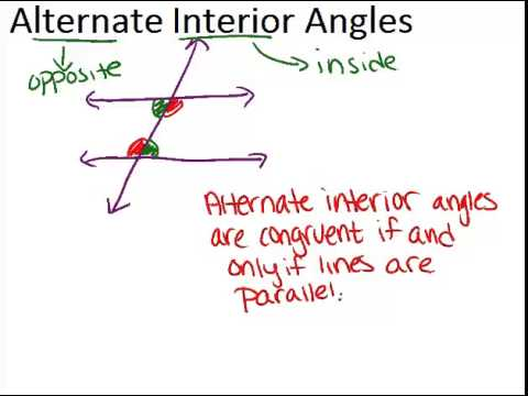 Alternate interior angles lesson geometry concepts - Alternate interior exterior angles ...