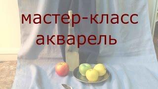 🔴АКВАРЕЛЬ ПО СУХОМУ// ИГОРЬ МАНУХОВ// МАРХИ