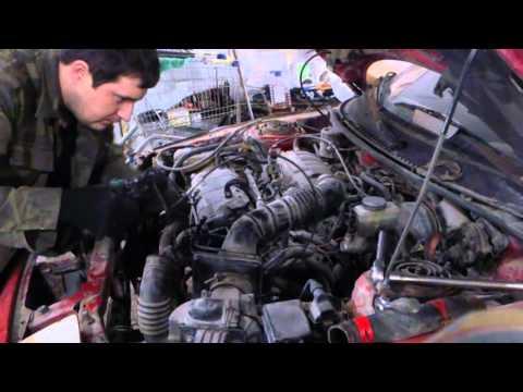 Mazda 323 F BG Снятие мотора