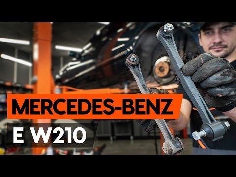 Как заменить заднюю тягу стабилизатора MERCEDES-BENZ E (W210) [ВИДЕОУРОК AUTODOC]