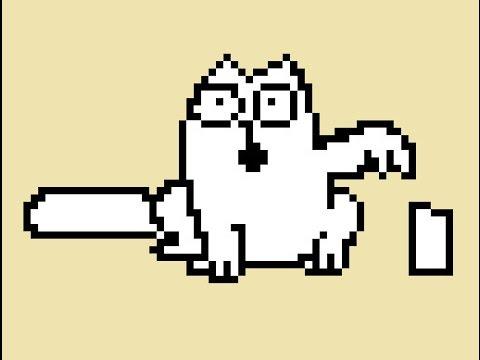 Рисунки в клеточку кот саймон