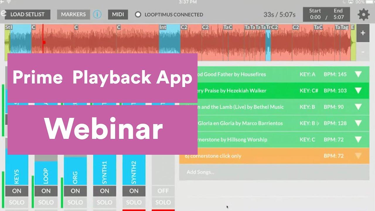 Prime MultiTrack Playback App Webinar