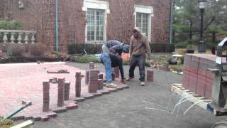 Oakland County Michigan Brick Paver Driveway Installation In Action