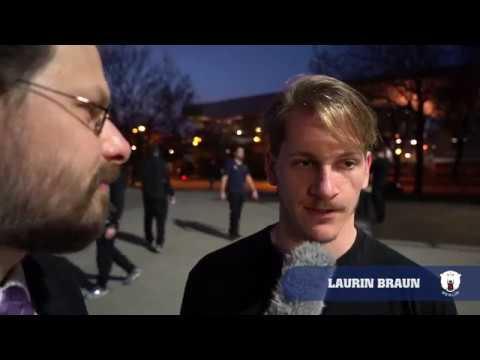 Laurin Braun im Eisbären-Gespräch nach dem Halbfinalaus