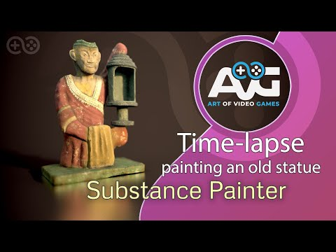 Painting A Fantasy Statue in Substance Painter