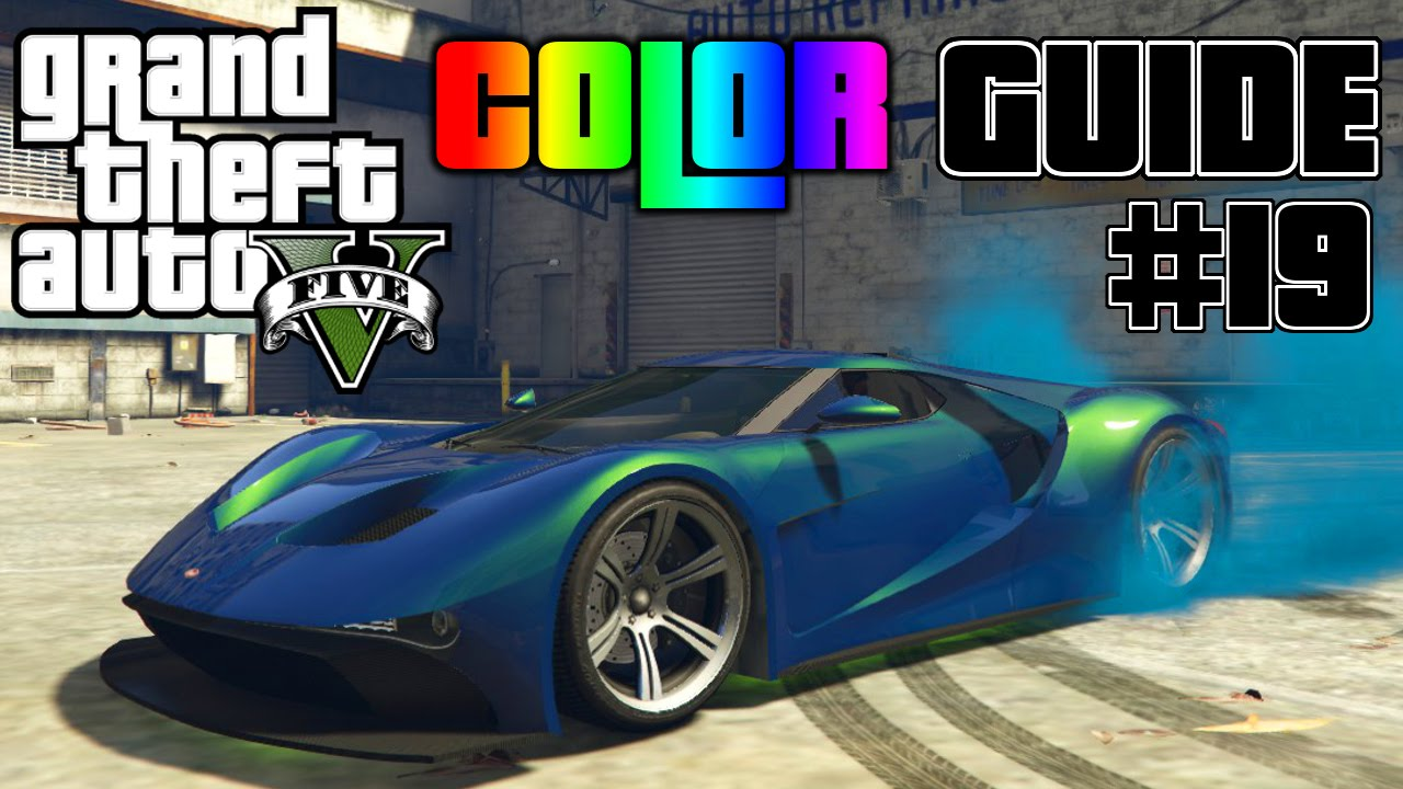 GTA V - Ultimate Color Guide #19 | Vapid FMJ Best Color ...