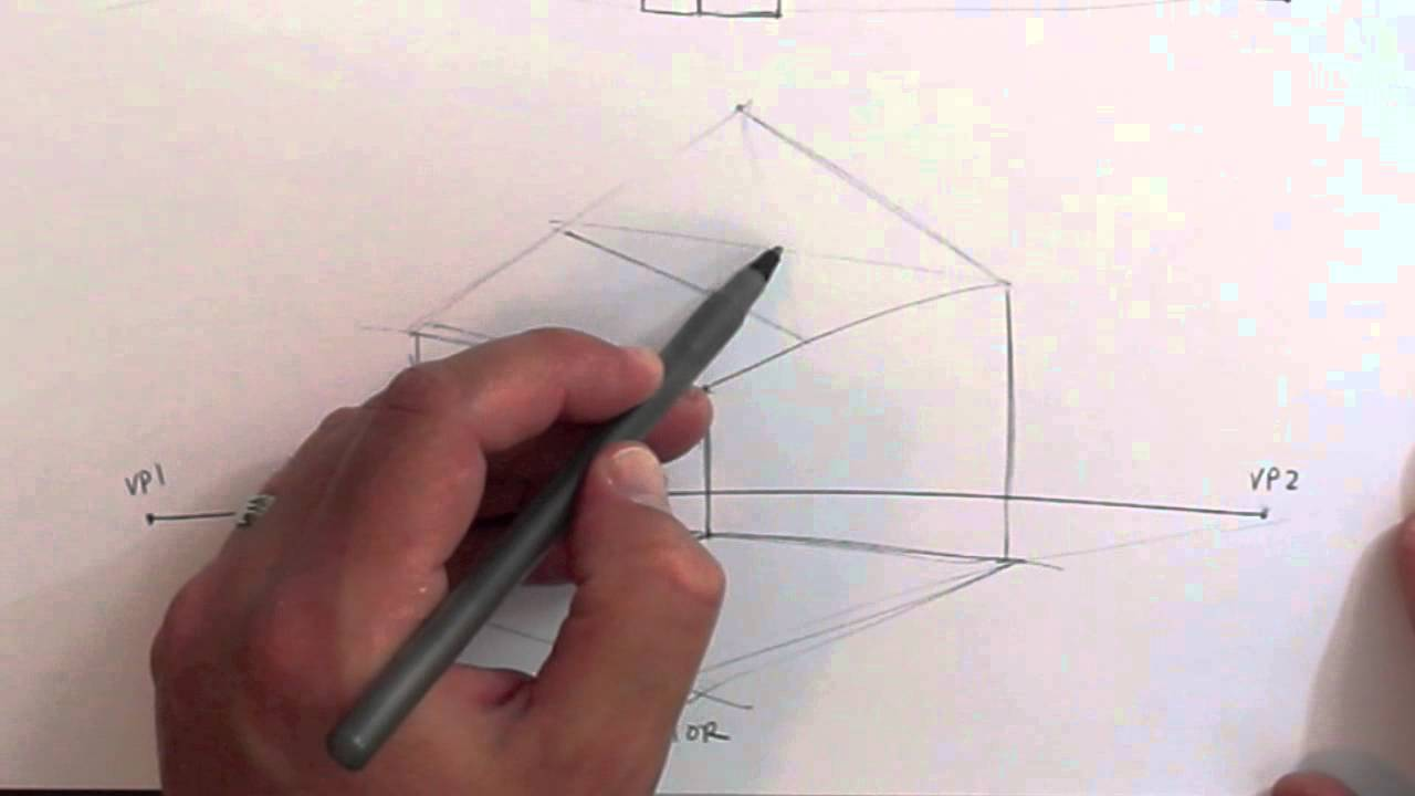 Drawing Tutorial   2 Point Perspective   Interior Exterior   YouTube Part 98