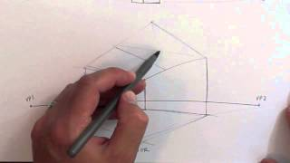 Drawing Tutorial - 2 Point Perspective - Interior Exterior