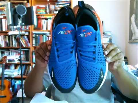 Nike Air Max 270 Racer BlueHyper Crimson Black Autentisk verifikation  Authentic Verification
