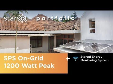 Starsol portfolio #1: AAND Sayana, 1.200 Watt Peak On-Grid
