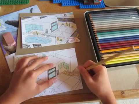 Easy 3d Modern Home Drawing: Awesome Cadecraft Art