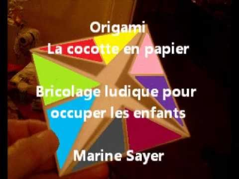 origami la cocotte en papier bricolage ludique pour occuper les enfants youtube. Black Bedroom Furniture Sets. Home Design Ideas