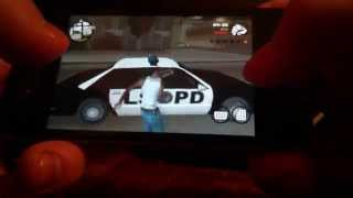 GTA San Andreas iPhone 4 Gameplay on iOS7