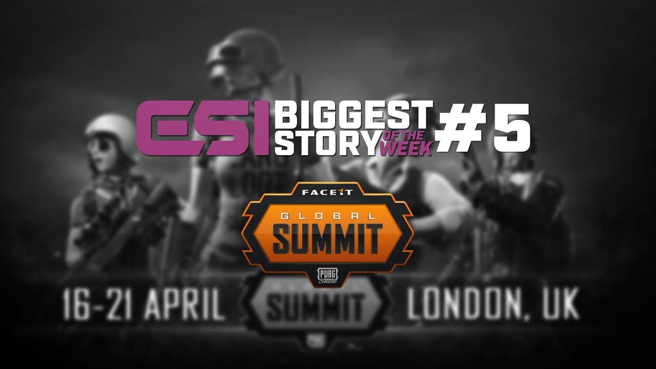 ESI Story of the Week | FACEIT to host first event for PUBG circuit -  11/02/2019