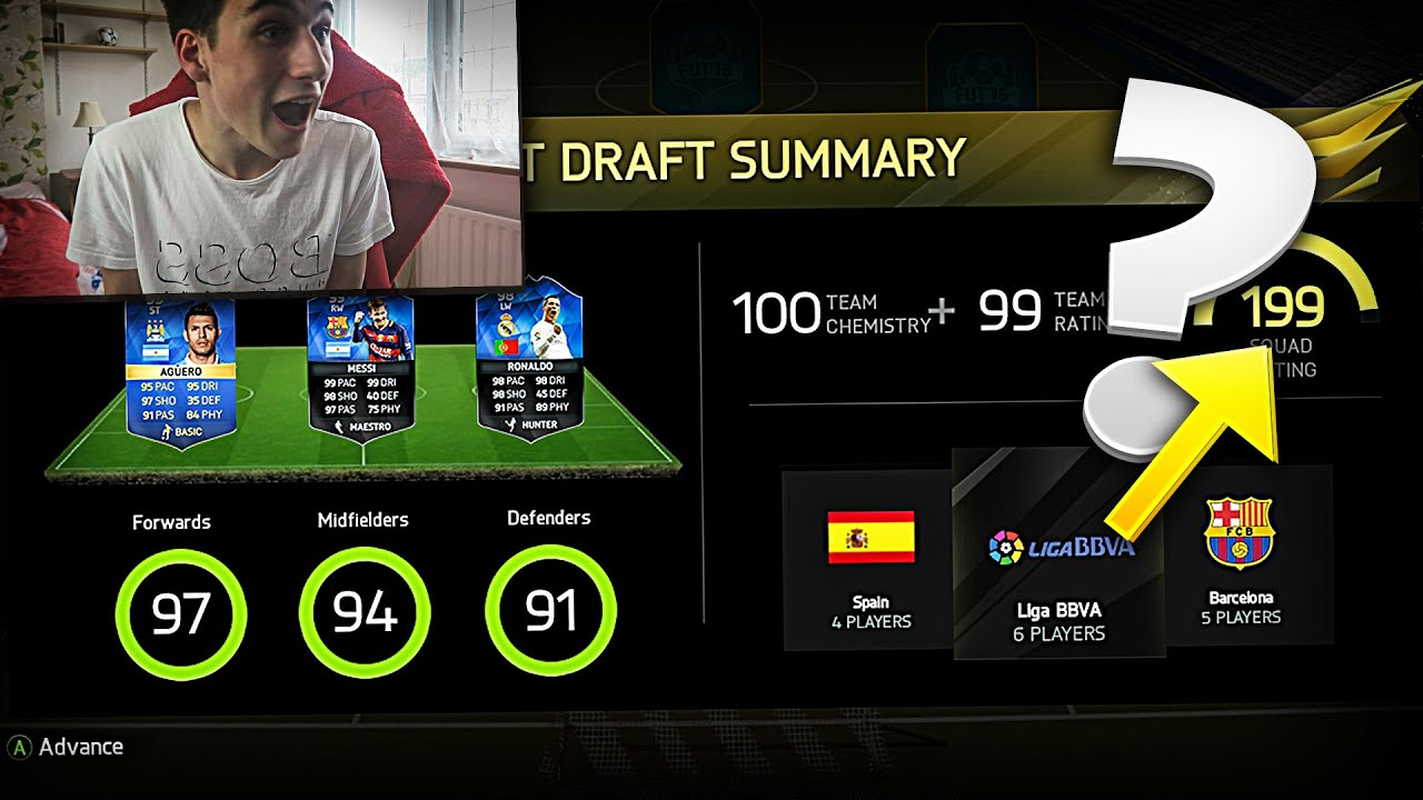 199 FUT DRAFT FIFA 16 CHALLENGE!!! Fifa 16 FUT Draft - YouTube