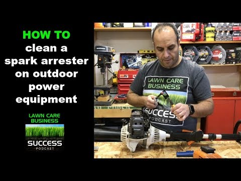 How to clean a spark arrester on outdoor power equipment