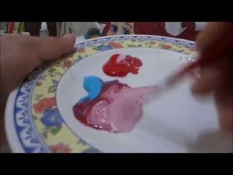 Pintura En Tela Como Hacer Azul Gris Rojo Borgoña Y Rosa 13 Marimur 544