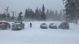 WINTER STORM Shuts Down Westbound Interstate 70 In Colorado on Black Friday