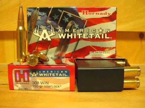 20 Round Box - 308 Win 150 Grain Soft Point Hornady American Whitetail Ammo  8090