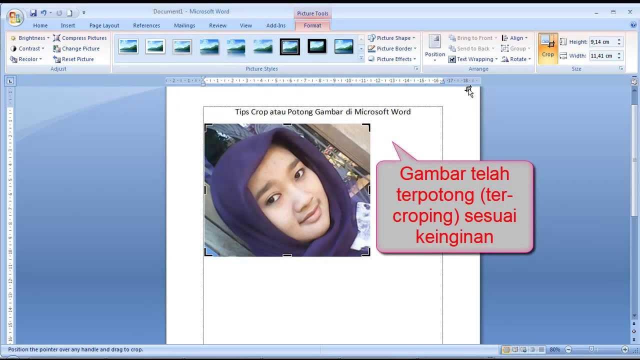 Tutorial Word Cara Memotong Crop Gambar Dalam Lembar Dokumen Microsoft Word Youtube