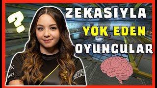 ZEKASIYLA YOK EDEN OYUNCULAR! (CS:GO 200IQ VIDEOS)