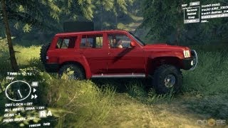 Spin Tires Dev Demo July 2013 - Nissan Patrol y61 Test Drive