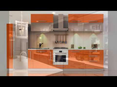 Trendy color gray kitchen