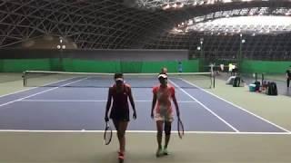 2018兵庫国際ジュニアテニストーナメント1 女子ダブルス準々決勝 松田絵...