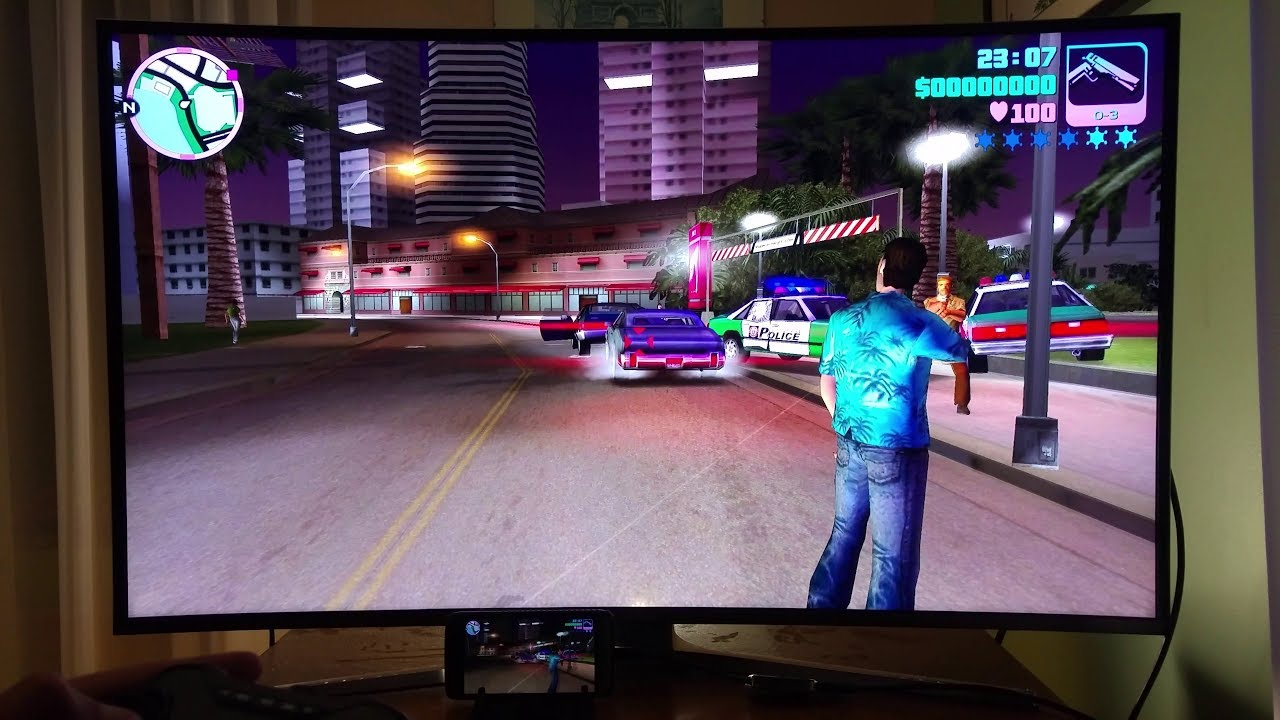 Gta Vice City Lg G5 Hdmi 4k Gamepad Bluetooth 43 2160p Ultra Hd Tv Android Smartphone With Slimport