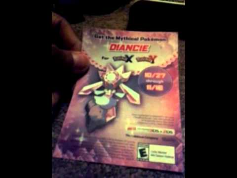 how to get diancie code