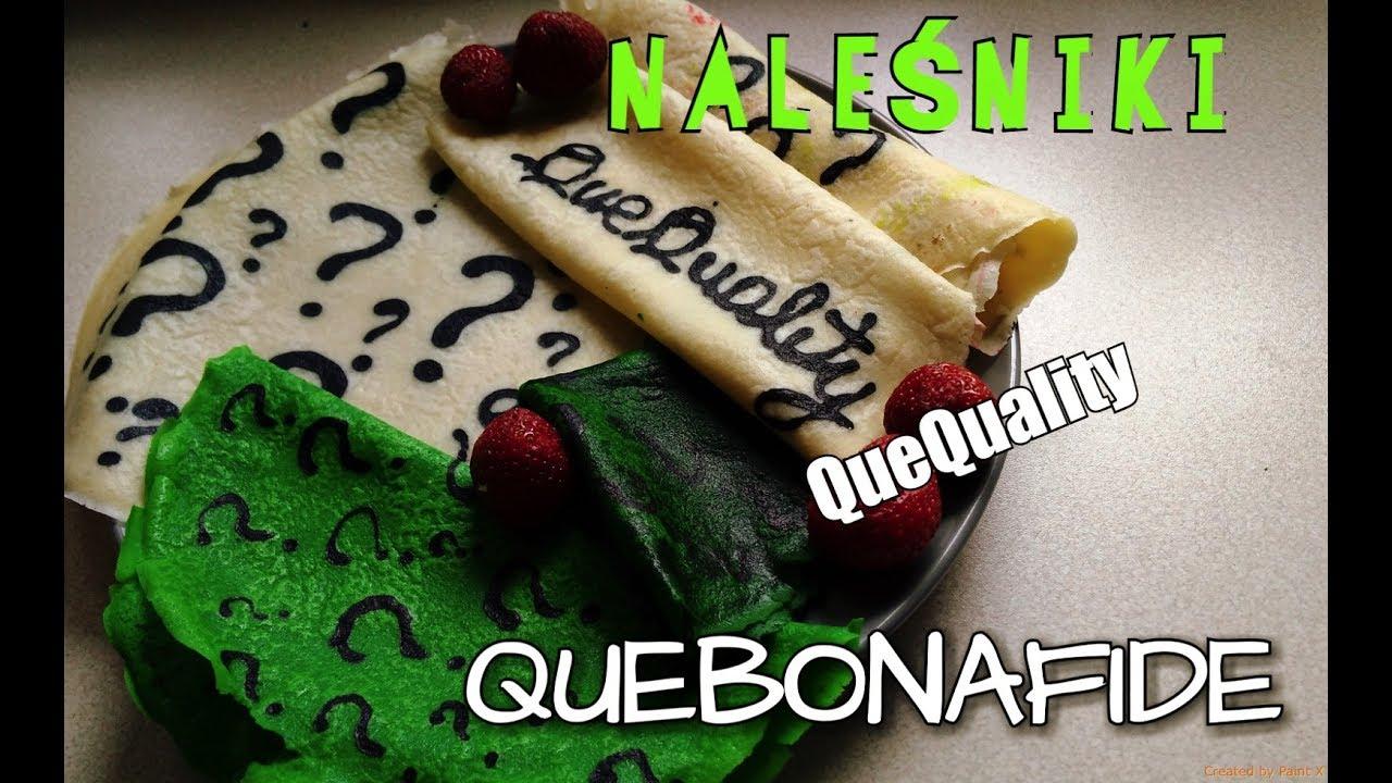 Naleśniki Quebonafide Quequality Znaki Zapytania Pancake Art