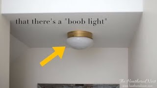 Quick & Easy Rattan Flushmount Ceiling Light Hack!