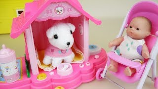 baby doll pet puppy toys play and baby Doli hair shop play