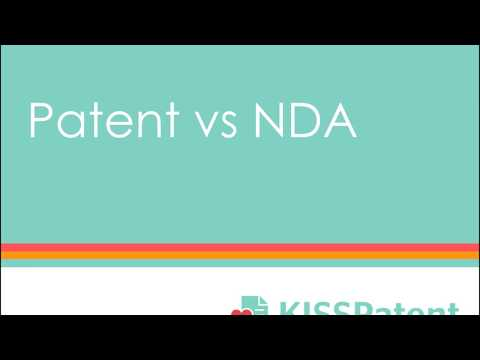 What's the difference: patent vs NDA?
