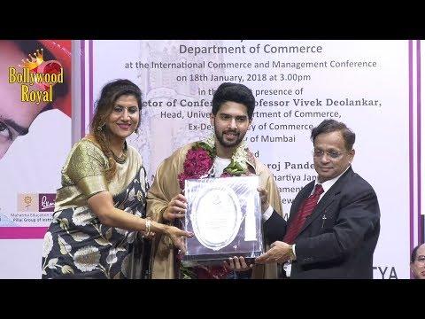 Armaan Malik Felicitated At International Commerce & Mgmt  Conference At Mumbai University Part-1