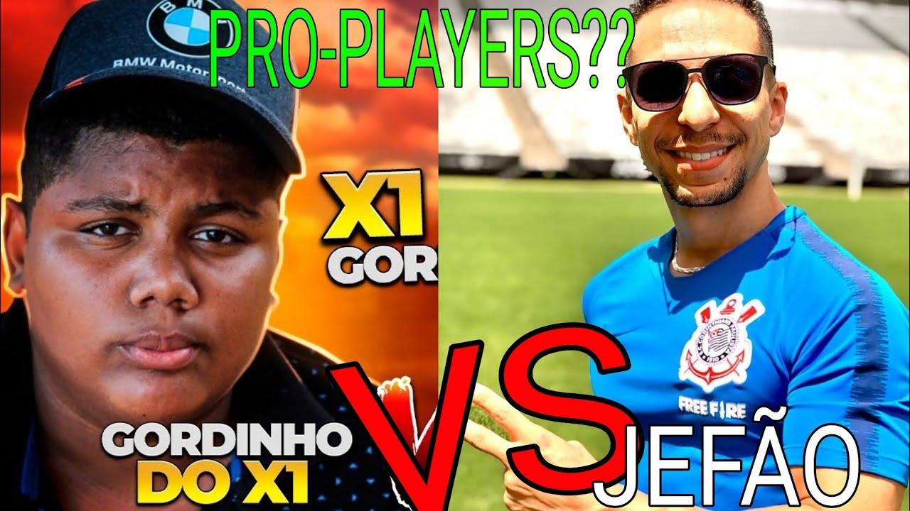 JEFÃO vs GORDINHO X1 - MAIOR CONFRONTO DE PRO-PLAYERS COMÉDIA DO FREEFIRE