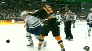 Joe Thornton vs Bryan McCabe Mar 2, 2004
