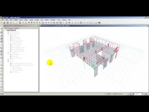 Design of waffle slab example using Safe 14 | FunnyCat TV