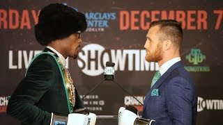 Jermall Charlo and Dennis Hogan face off ahead of WBC Middleweight Title Fight