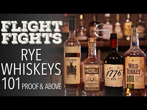 Best Rye Whiskey 101 Proof & Above (Blind Flight Fight)