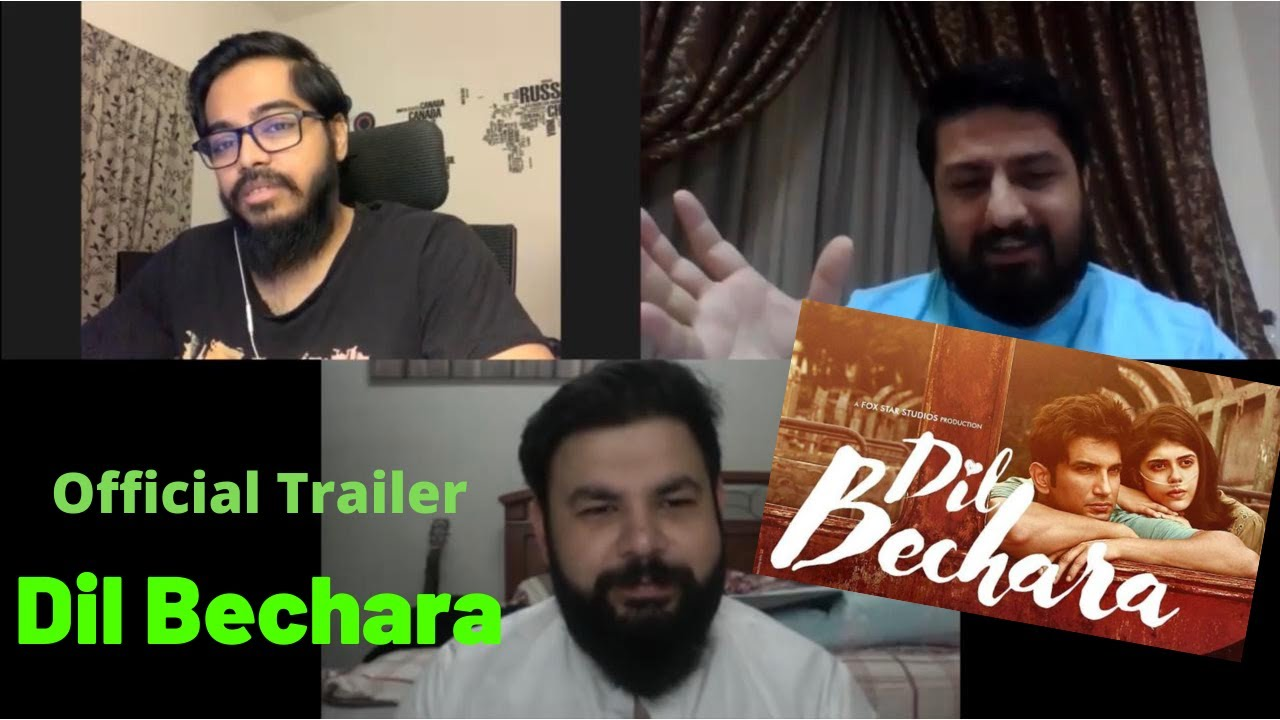 Dil Bechara Official Trailer Sushant Singh Rajput | Pakistani reaction | Shugal Syndrome
